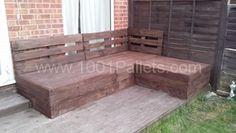 Corner Sofa Made From Repurposed EURO Pallets