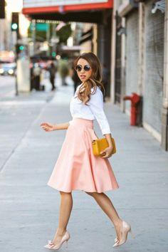 comment porter une jupe longue avec une chemise