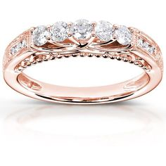 $759.95 1/2 CT TW Diamond 14K Rose Gold Wedding Band