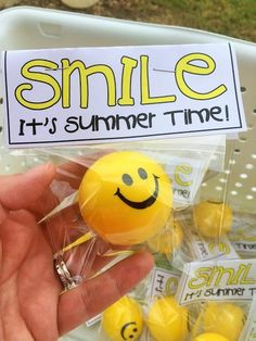 End of the Year Students Gifts Free download Smile It's Summer Time!