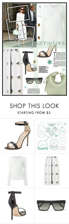 """""""Get the look: Victoria Beckham"""" by joliedy ❤ liked on Polyvore featuring Victoria Beckham and Manolo Blahnik"""