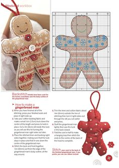 Cross-stitch Gingerbread Man, part 2...  color chart on part 3...   Gallery.ru / Фото #3 - 10 - mikolamazur