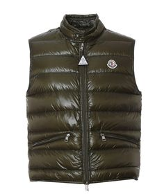 MONCLER Moncler Men'S 433619953029833 Green Polyamide Vest'. #moncler #cloth #polos