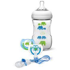 Philips Avent Geschenkset Elefant, Blau/Grün