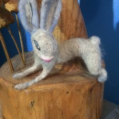Maisy the needle felted Bunny by EssenceofTranquility on Etsy