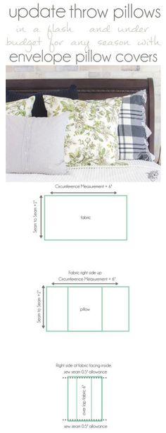 DIY Throw Pillow, DIY Pillow Covers, Envelope Pillow, Inexpensive Throw Pillows, Budget Decorating my favorite way to make them