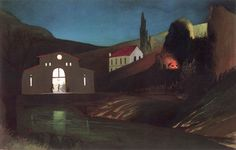 Electric Station at Jajce at Night - Tivadar Csontváry Kosztka Hungarian, Oil on canvas, x 126 cm. Nocturne, Electric Station, Post Impressionism, Art Database, Light Painting, North Africa, Travel Around The World, Oil On Canvas, Illustration