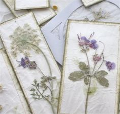 I love to collect Wildflowers in spring and summer and use them in my art work, including bookmarks, and cards, and I discovered a wonderful technique...
