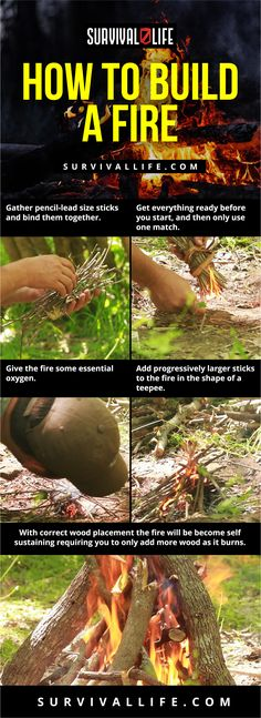 Enjoy this Easy DIY Fire Building Inforgraph brought to you by ! Urban Survival, Survival Life, Survival Food, Wilderness Survival, Outdoor Survival, Survival Prepping, Survival Skills, Survival Hacks, Emergency Preparedness