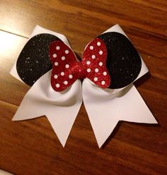 3inch Minnie Cheer Bow red bow no rhinestones by BowsByEm on Etsy, $12.00