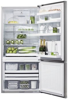 Fisher & Paykel E522BRXFD2 17.6 cu. ft. Counter-Depth Bottom-Freezer Refrigerator -- no ice maker -- but good reviews