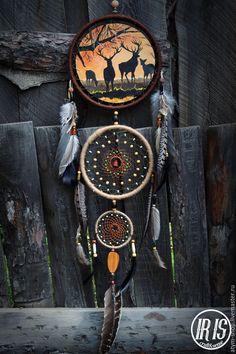 Купить Ловец снов с росписью Олени, ловец снов с рисунком, ловец снов олени… Dream Catcher Native American, Native American Art, Dreamcatchers, Dream Catcher Decor, Native Tattoos, Beautiful Dream Catchers, Indian Arts And Crafts, Medicine Wheel, Cow Skull