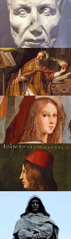 Cinque grandi esponenti del Neoplatonismo pagano e cristiano