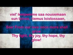 Finland National Anthem Finnish with English translation of lyrics displayed