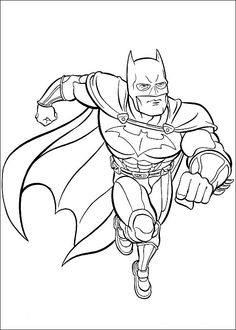 Batman Running Coloring Page Great This Fictional Hero From DC Comics Is