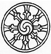 simple dharma wheel