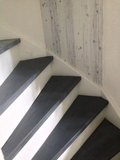 Stairs painted with chalk paint