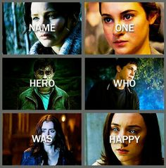 Harry was with Ginny. Katniss has pests. Tris had four. Percy annabeth. Clary jace. And Wanda Ian.