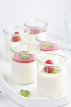 Raspberry Panna Cotta #recipe