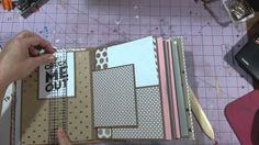*Made this!* Gold Rush Mambi Sheets mini album page only tutorial