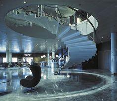 Radisson-Blu-Royal-Hotel-Copenhagen-Lobby - Arne Jacobsen, Room 606 - Copenhagen, Denmark.
