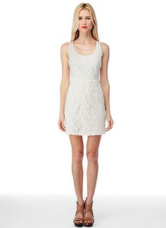 lace tank dress. a skinny gold belt would be awesome with it!
