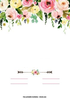 Free Shower Invitation Template - Best Of Free Shower Invitation Template , Free Printable Boho Chic Flower Baby Shower Invitation Free Baby Shower Invitations, Free Baby Shower Printables, Baby Shower Invites For Girl, Templates Printable Free, Template Free, Free Printable Birthday Invitations, Baby Shower Elegante, Baby Shower Boho, Floral Baby Shower