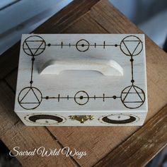 Tarot box / / wood box / / jewelry boxes / / by SacredWildWays