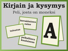 Discover recipes, home ideas, style inspiration and other ideas to try. Learning The Alphabet, Alphabet Activities, Preschool Activities, Finnish Language, Team Building Exercises, Early Childhood Education, Social Skills, Pre School, Speech Therapy