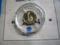 STATUE OF LIBERTY 2000 LIBERIA $10 1/2 GRAM GOLD .585 COIN COA RARE