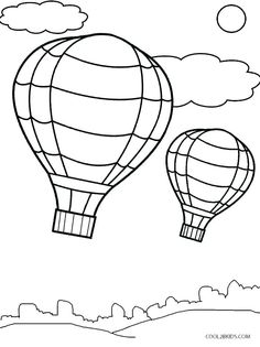 21 Best free balloon coloring sheets images in 2019