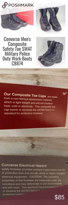 🌺Converse Men s Composite Safety Toe Boots NWOTConverse Men s Composite  Saftey Toe Work Boots C8874 Details 607255287
