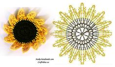 Crochet Sunflower - Chart ❥ 4U // hf  http://www.pinterest.com/hilariafina/