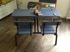 bureau enfant r cup vintage diy transformation de meubles pinterest kids homework. Black Bedroom Furniture Sets. Home Design Ideas