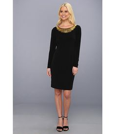 Calvin Klein Calvin Klein  Embellished Dress CD3A1H37 Black Womens Dress for 51.2 at Im in!