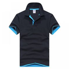 Men Polo Shirt Mens Short-Sleeved Summer Brands Camisa Polo Casual Cotton Polo Shirts Breathable Plus Size Tops Tees black and L Slim Fit Polo Shirts, Casual Shirts, Casual Outfits, Casual Blazer, Casual Jeans, Camisa Polo, Running Shirts, Herren T Shirt, Shirt Price