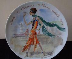 Daisy, La Garconne--La Femme Rebelle, 1925 by D'Arceau Limoges Plate VII - 1977