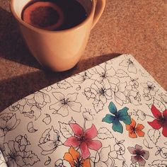 Grateful for hot tea and colouring books  #365grateful by chicorynikki