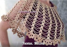 Summer capes (part Crochet Cape, Crochet Blouse, Crochet Scarves, Crochet Clothes, Knit Crochet, Crochet Bookmark Pattern, Crochet Bookmarks, Crochet Patterns, Crochet Shawls And Wraps