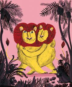 ¤ Magali Le Huche. Tango de Lions. Quinzième collection d'images, d'illustrations inédites. 2014