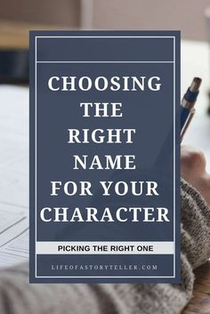 Naming your character can be more difficult than developing him or her completely. Check out this resource on how to pick the right name for your character. writing tips | writing resources | character development Descubra Lendas da Literatura no E-Book Gratuito em http://mundodelivros.com/e-book-25-escritores-que-mudaram-a-historia-da-literatura/
