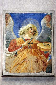 Musical Angel (Vatican Museum) This painting is one of the set of Musical Angels by Melozzo da Forli; it can be found in the Pinoteca.