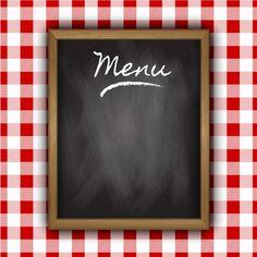 Blackboard do menu de Vetor grátis