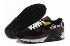 Nike Air Max 90 Suede Running negro / marrón http://www.esnikerun