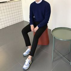 Mens Fashion Smart – The World of Mens Fashion Korean Fashion Men, Korea Fashion, Asian Fashion, Boy Fashion, Mens Fashion, Fashion Outfits, Korean Outfits, Trendy Outfits, Men Looks