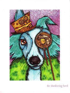 love! .. cool dog art