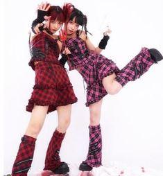 Japanese Harajuku Punk Cake Pink Red Plaid Skirt Harajuku Mode, Harajuku Fashion, Plaid And Leather, Red Plaid, Leather Buckle, Weird Fashion, Punk Fashion, Japanese Street Fashion, Korean Fashion
