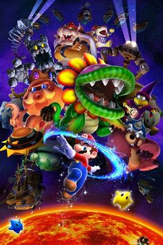 All of the bosses from Super Mario Galaxy