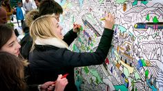 Giant Coloring Canvases Create a Unique Group Activity for Adults - My Modern Met