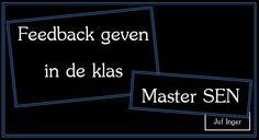 Feedback geven in de klas - Juf Inger